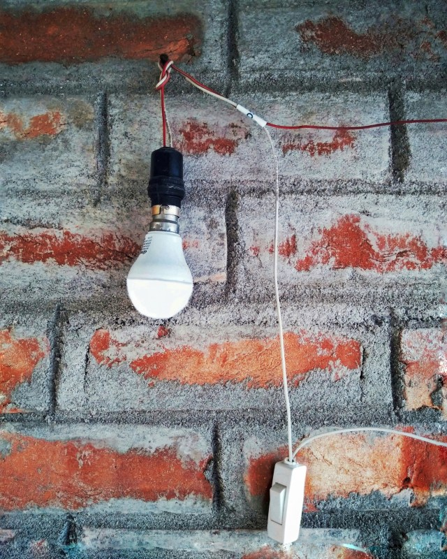 Glowing led bulb with a Switch