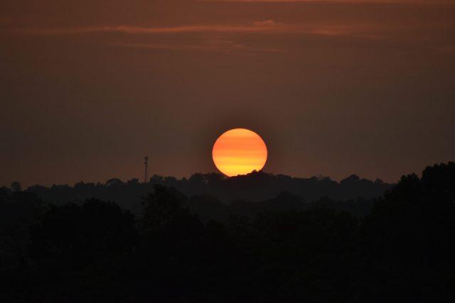 Big Sun during Sunset