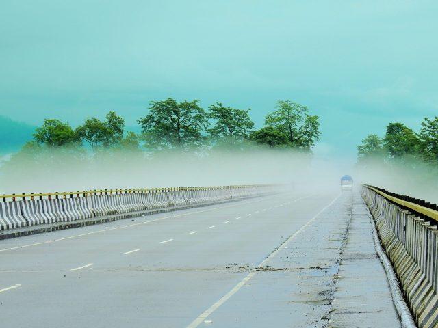 Bridge Foggy Scenery