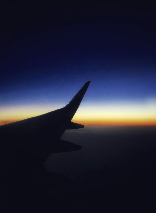 View of the sky from an airplane
