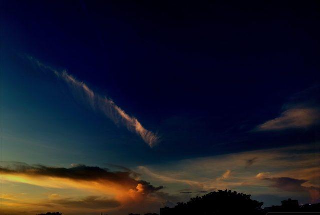 Amazing clear blue sky