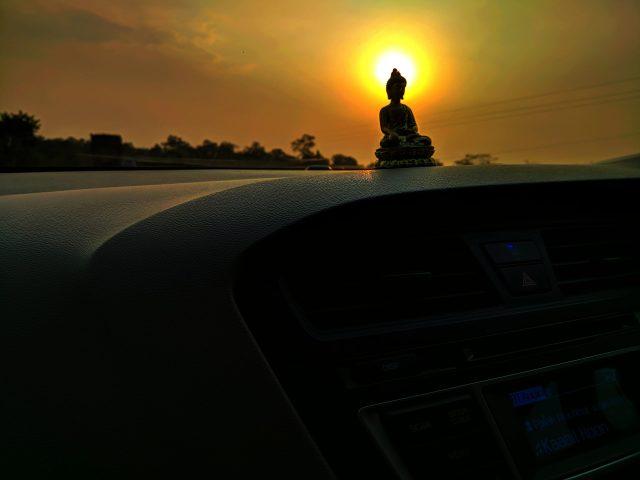 buddha idol against sunlight