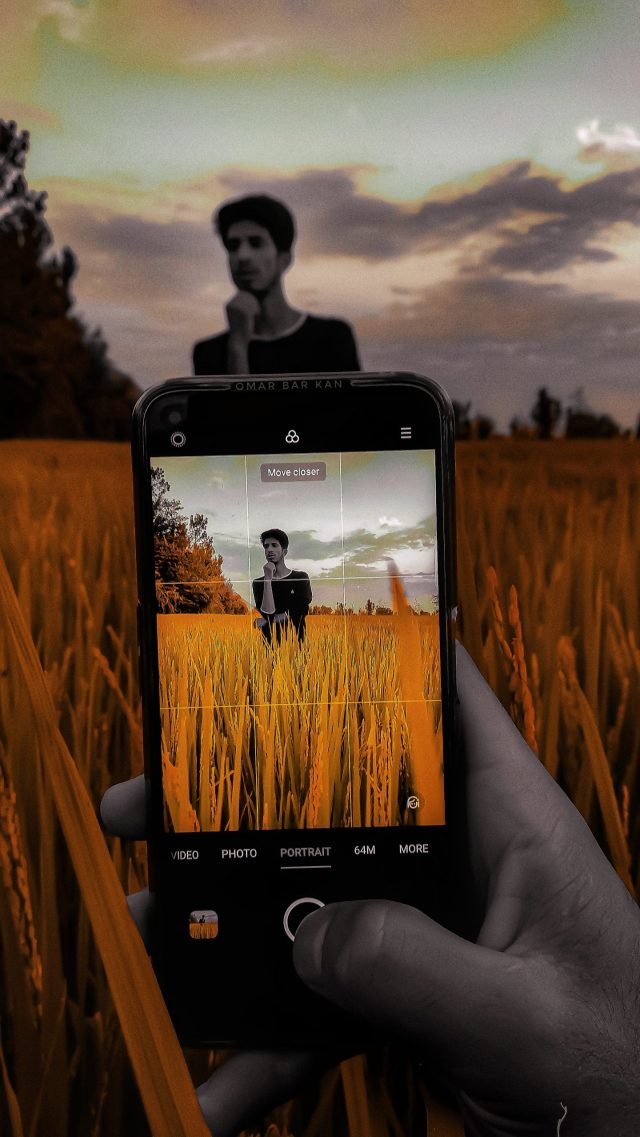 Taking Photo on the Paddy Field