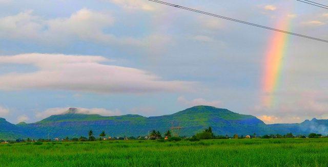 Rainbow among Green Mountain