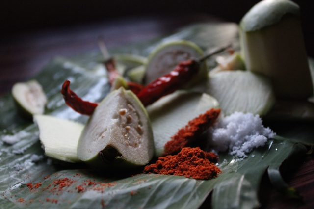 Sliced Guava and Chili