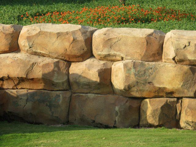 a stone enclosure