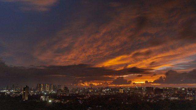 Sunset in Urban Area
