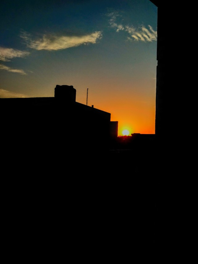 view of sunset from a terrace