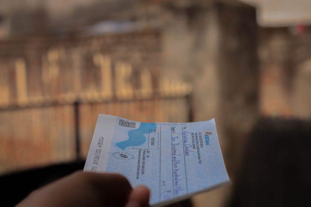 A bank cheque