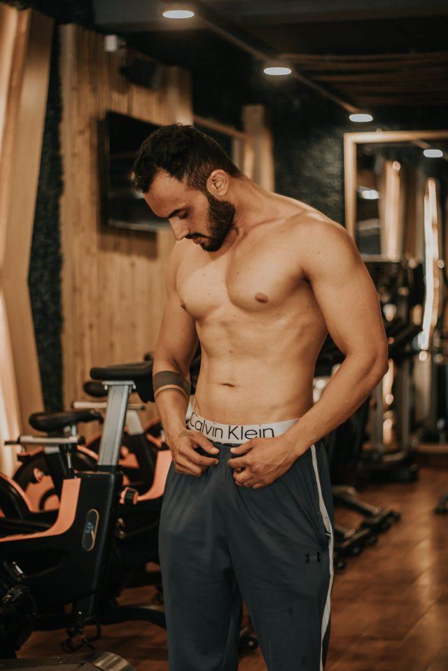 A boy in Gym