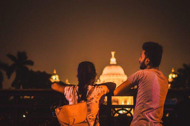 A couple near Victoria Memorial