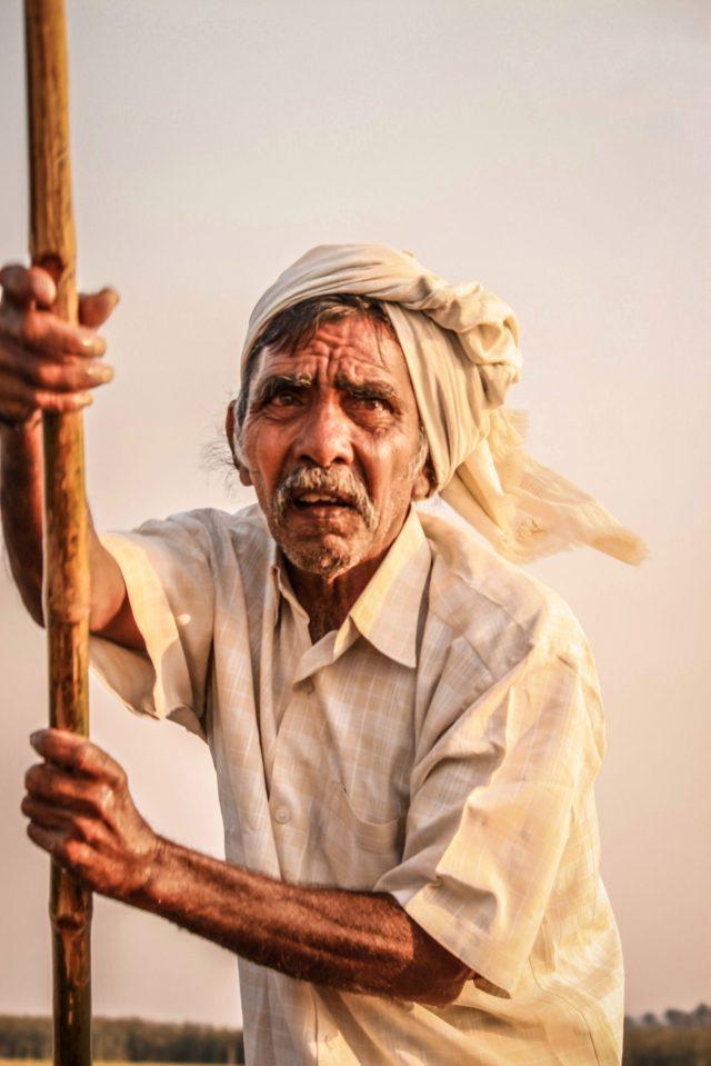An old man in a village