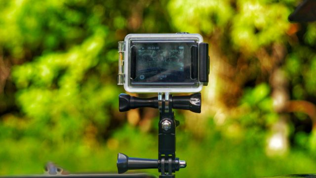 A camera on stand