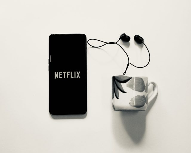 Netflix smartphone display