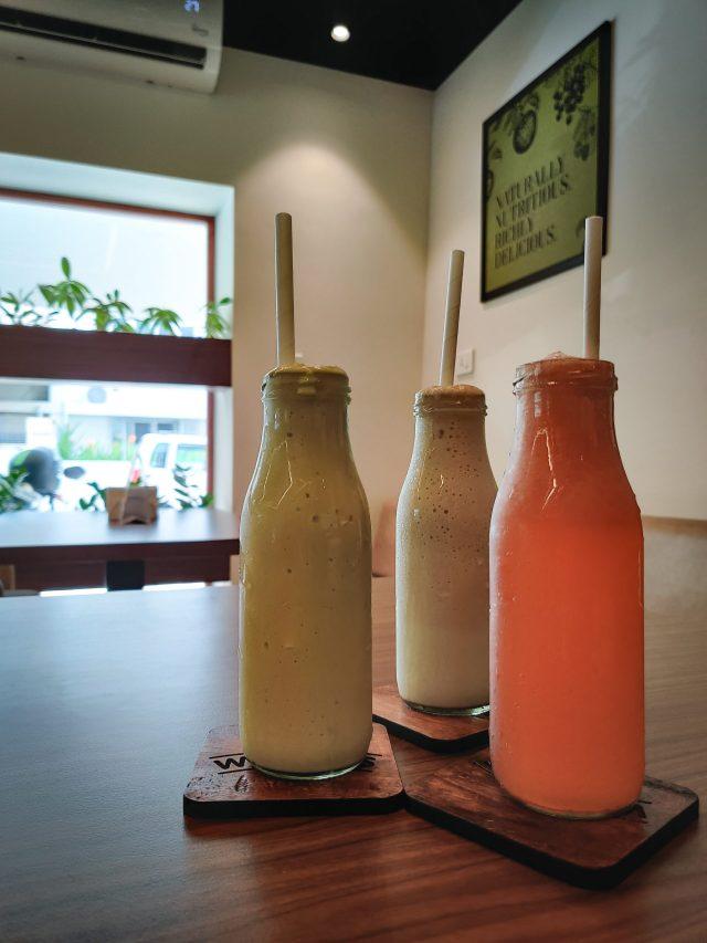 milk shakes in bottles