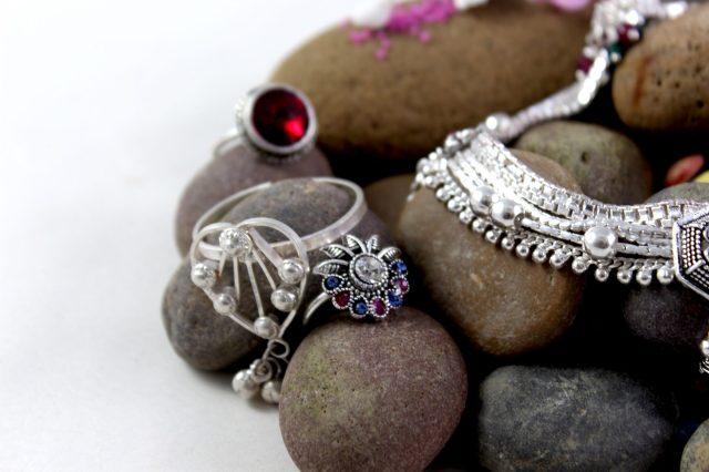 Jewelry on stones