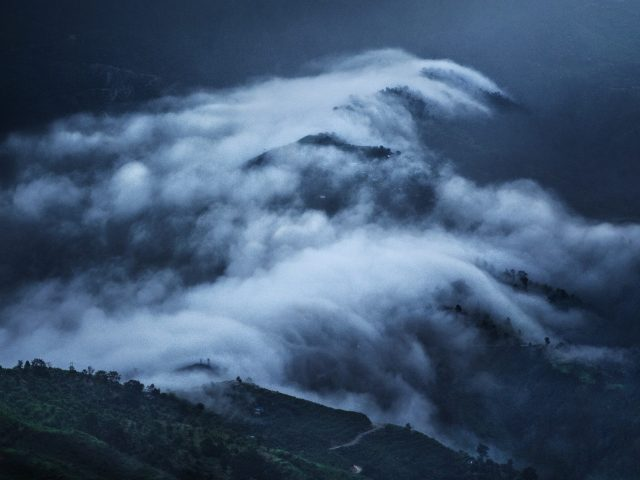 Clouds on mountains