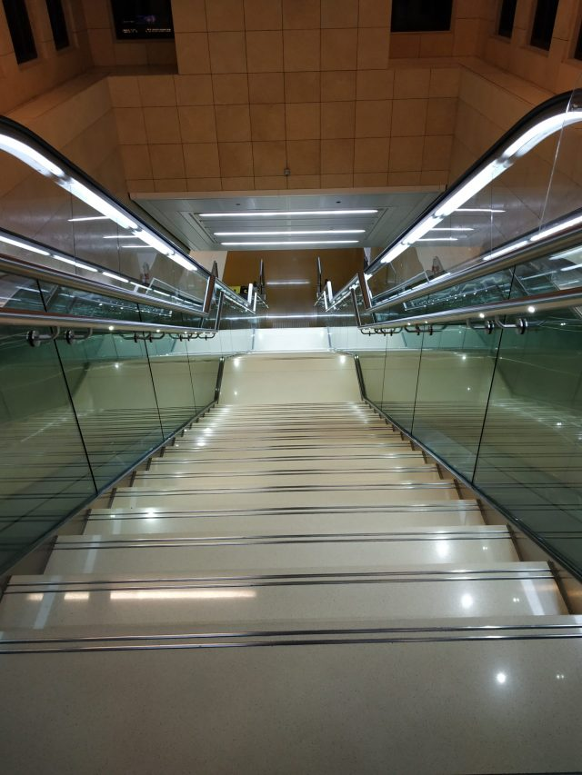 A metro station in Dubai