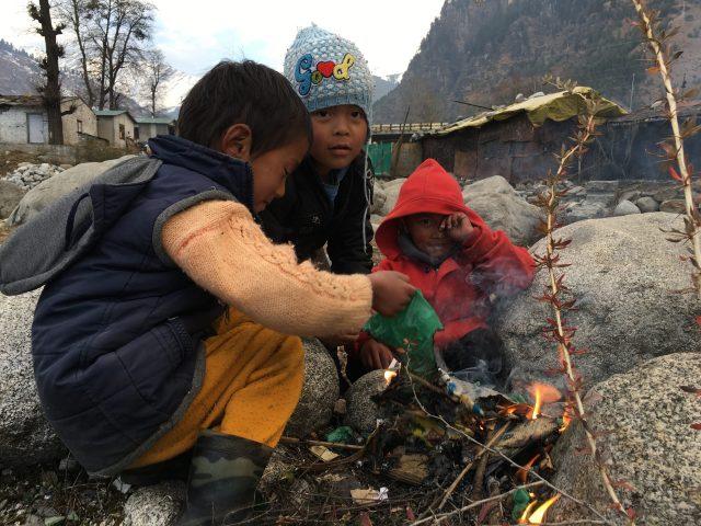 A village children