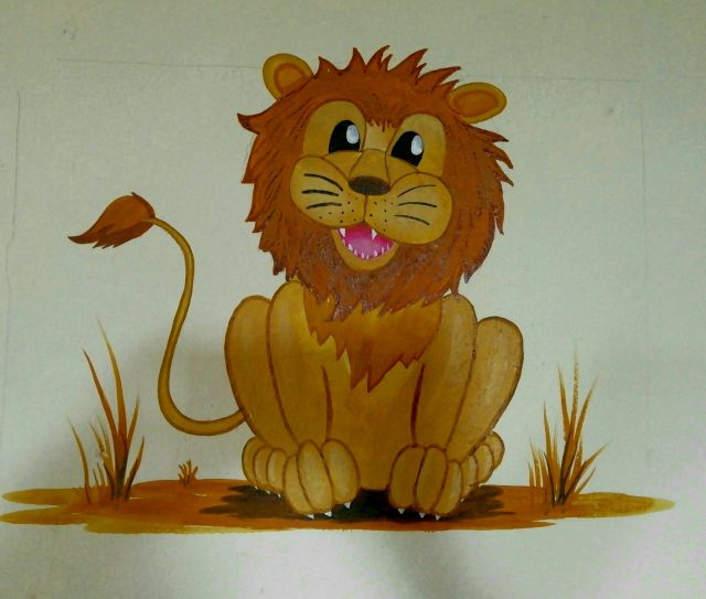 Lion Painting on wall