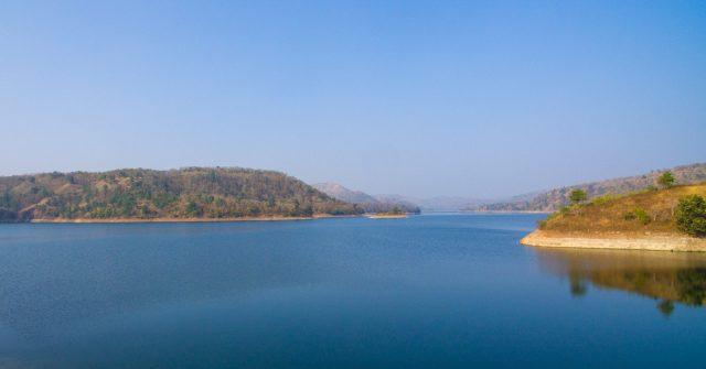 A reservoir near Satpura mountain range