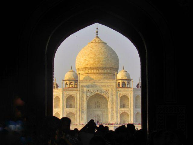 Taj Mahal view from inside