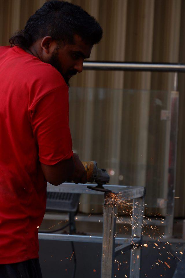 A metal worker