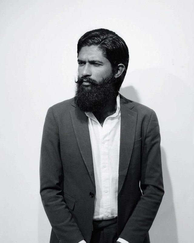 Beard man in formal wear