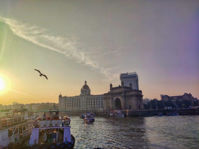 Gateway of India and Taj Hotel view in Mumbai