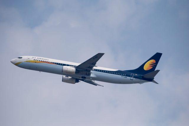 Jet Airways Airplane flying in the sky