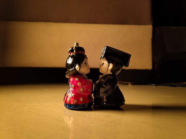 Korean couple statue