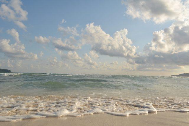 Waves in a beach