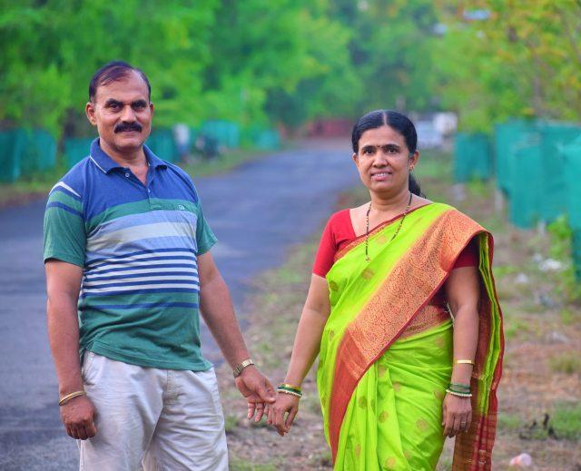 An Indian mature couple