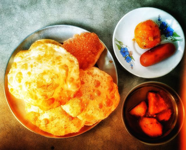 Breakfast with sweets