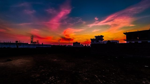 Colorful sky after sunset