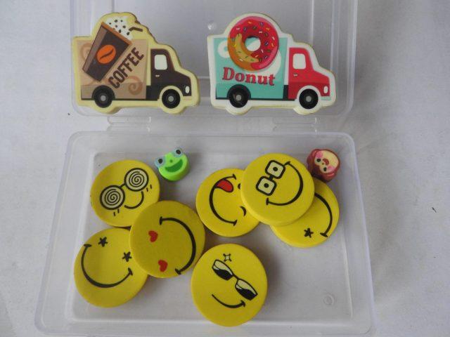 Emoji faces Erasers