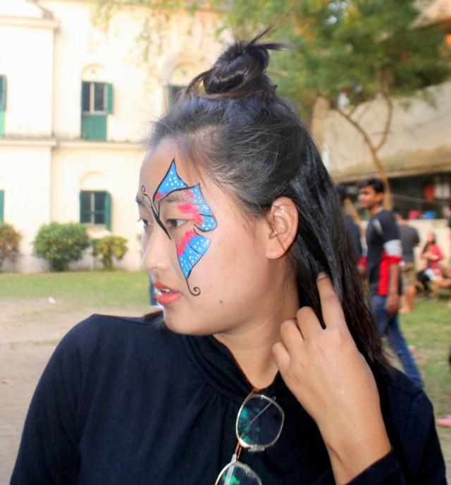 Face art on girl