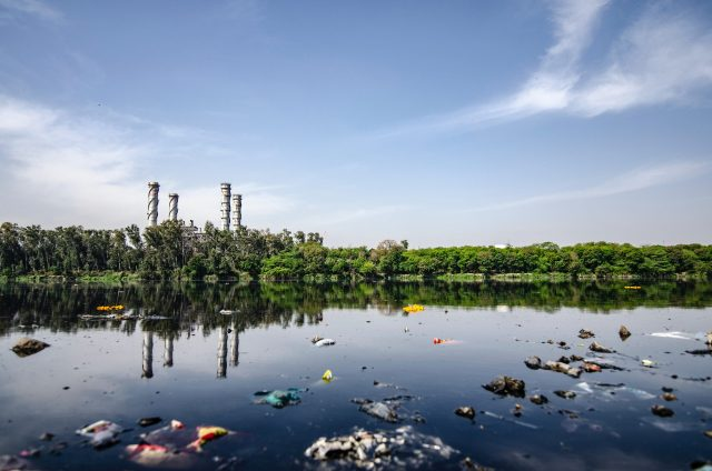 A polluted water resource