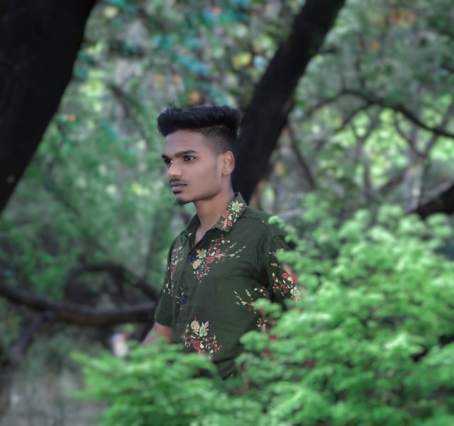 Indian Boy posing in the forest