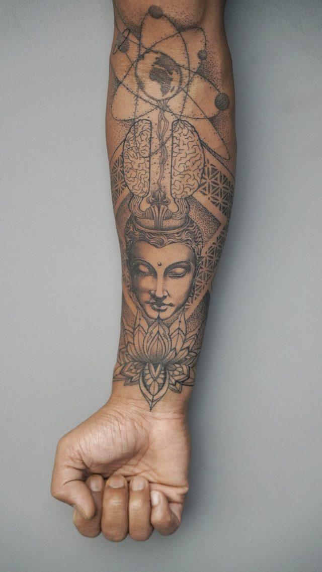 Lord Shiva Tattoo on hand