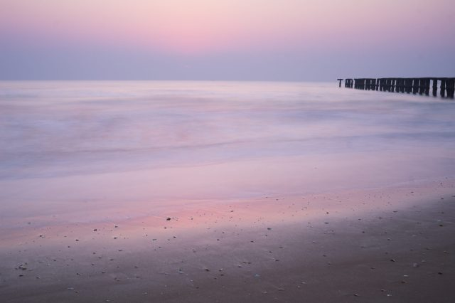 long exposure of beach in morning