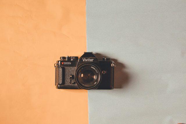 An vintage camera