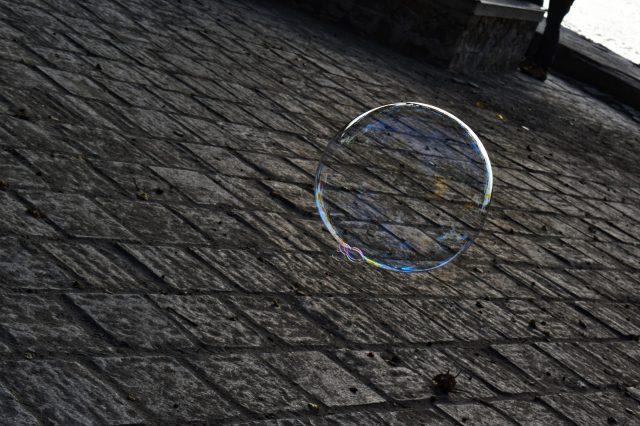 Bubble on the floor