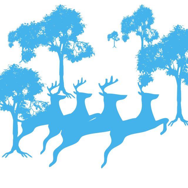 Deer and tree painting