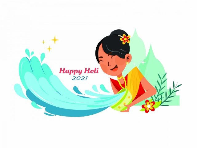 Holi wallpaper illustration
