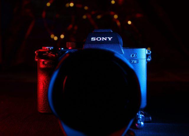Sony camera in low light