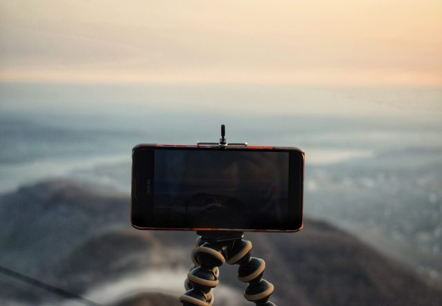 Mobile on tripod