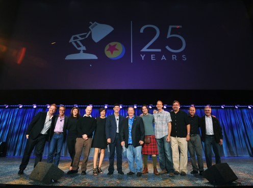 ANDREW STANTON, JIM MORRIS, LINDSEY COLLINS, DAN SCANLON, KATHERINE SARAFIAN, RICH ROSS (CHAIRMAN, THE WALT DISNEY STUDIOS), JOHN LASSETER (CHIEF CREATIVE OFFICER, WALT DISNEY AND PIXAR ANIMATION STUDIOS), MARK ANDREWS, PETE DOCTER, BOB PETERSON, JONAS RIVERA, JOHN WALKER
