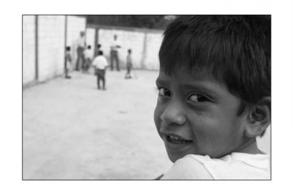 a boy watching soccer