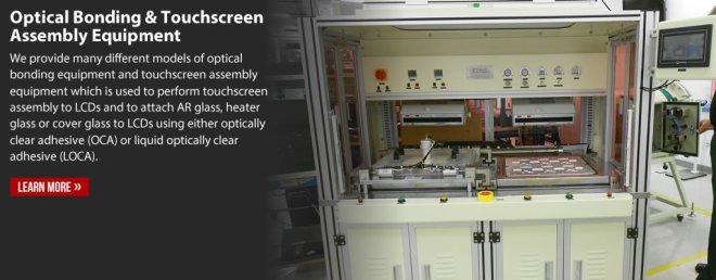 Optical Bonding Equipment, Touchscreen Assembly Equipment